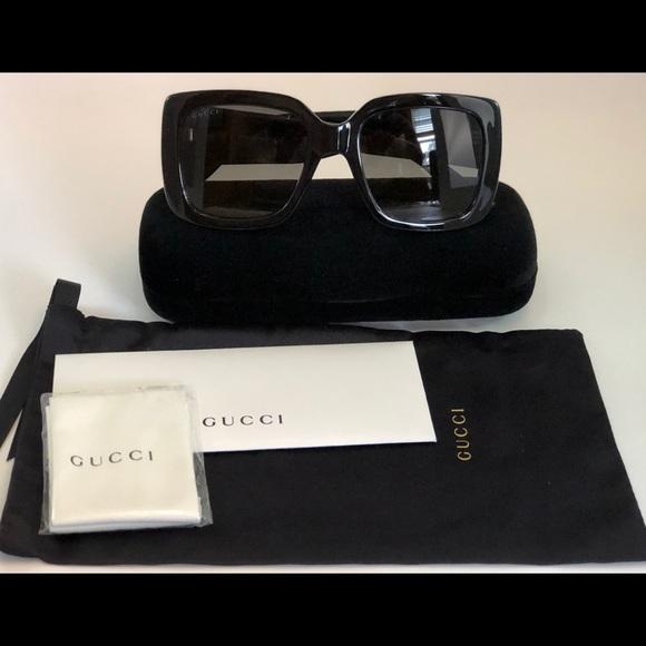 77d09bcb01a6b Gucci Urban GG0141S Sunglasses 001 Black Grey Lens